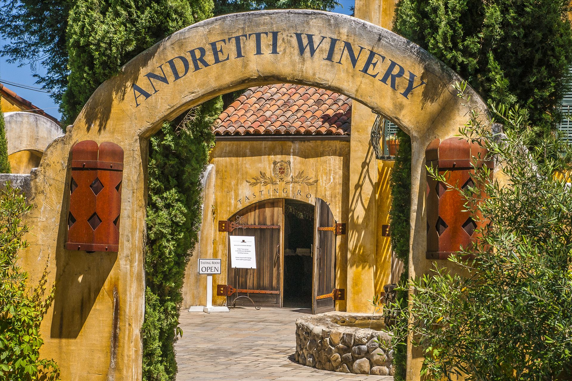 Andretti Winery - Race, Team, Owner, and, Driver, Mario, Andretti's, Napa Valley, California, Winery, by Buckmaster