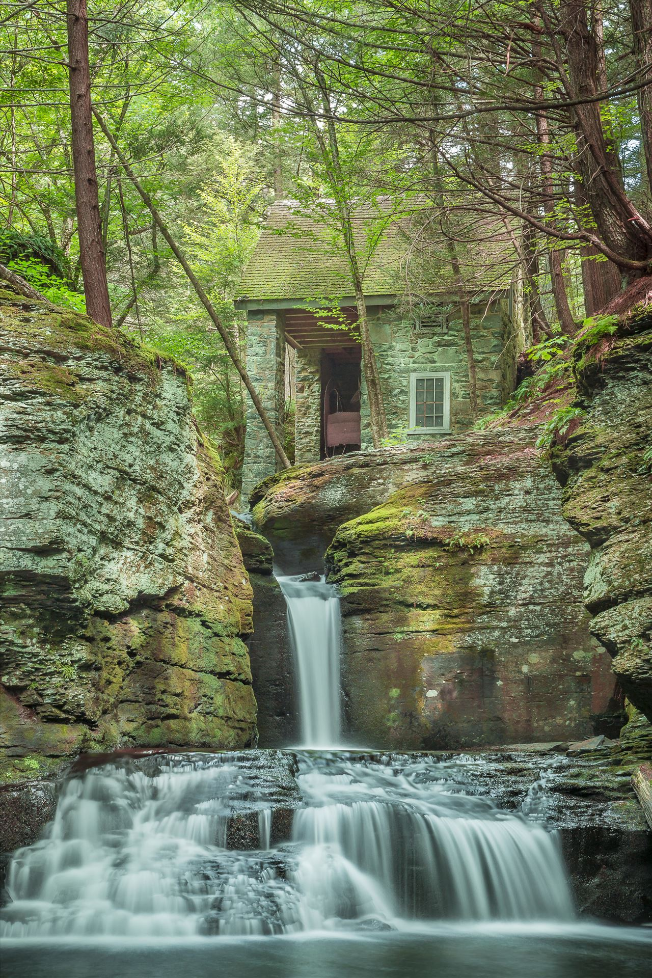 Adam's Falls - On Adam's Creek in Dingman's Ferry, Pennsylvania by Buckmaster