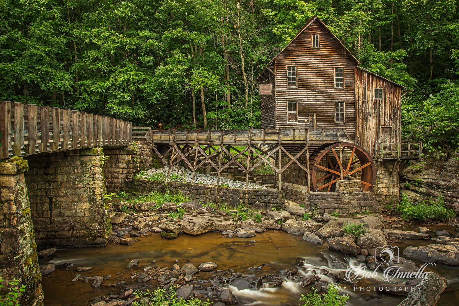 Glade Creek Grist Mill - Grist Mill in Babcock State Park, West Virginia by Buckmaster