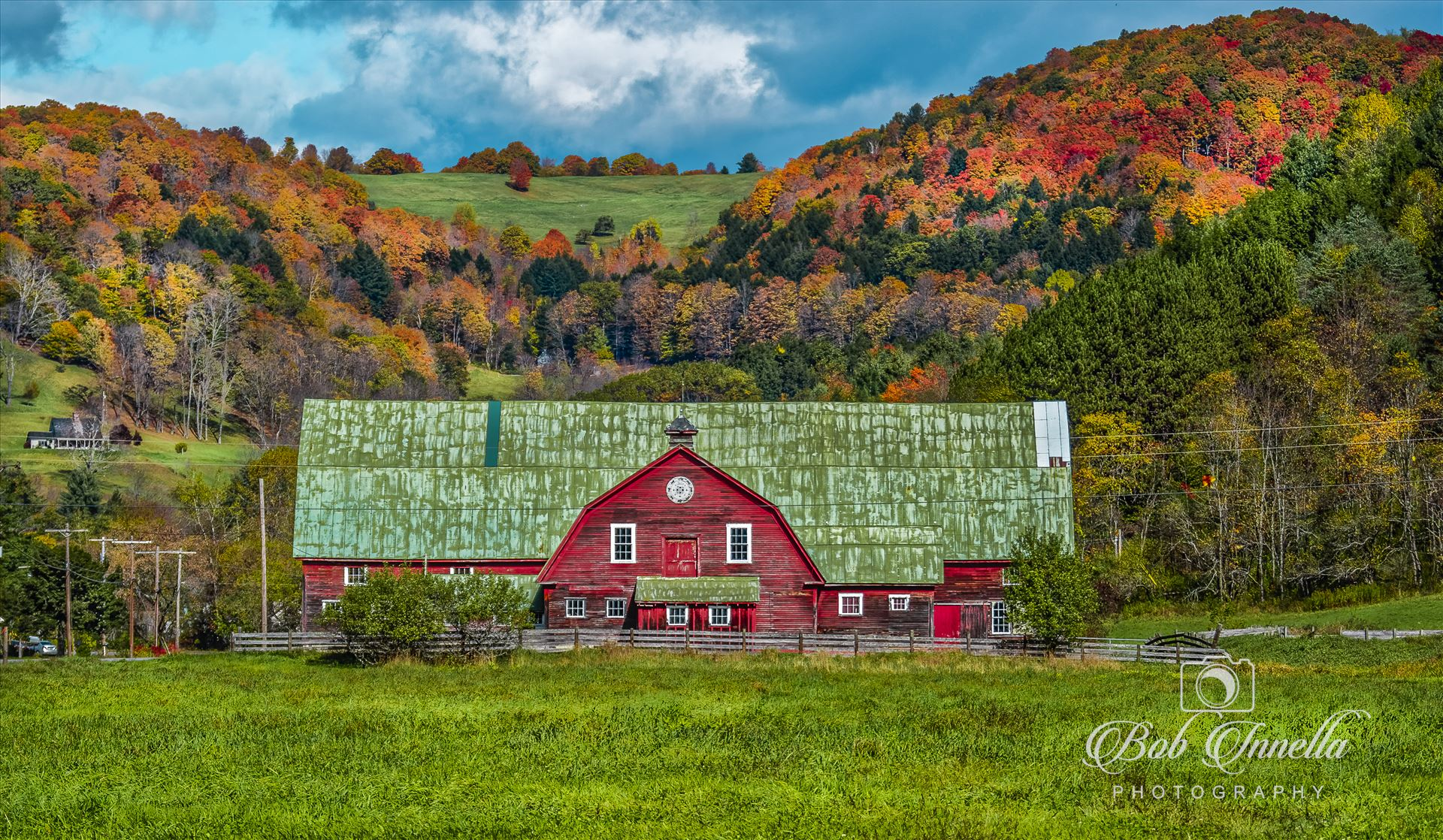 Vermont Green Roof Barn - Vermont Barn with Fall Foliage by Buckmaster