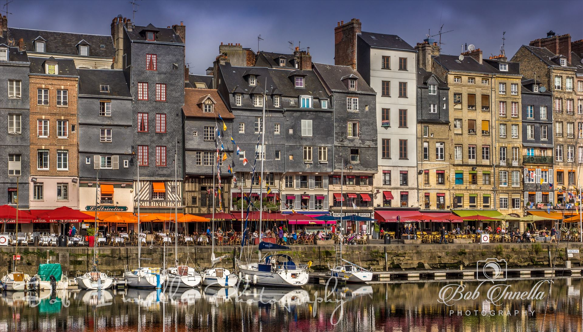 Buildings At Honfleur Harbour, France - Harbor in Honfleur France 2014 by Buckmaster