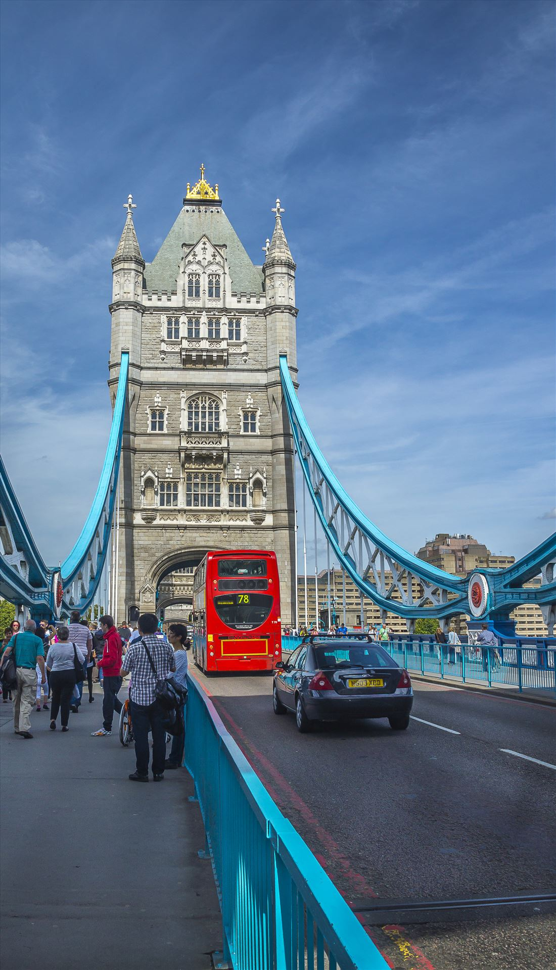 Tower Bridge - With a Double Decker Bus by Buckmaster