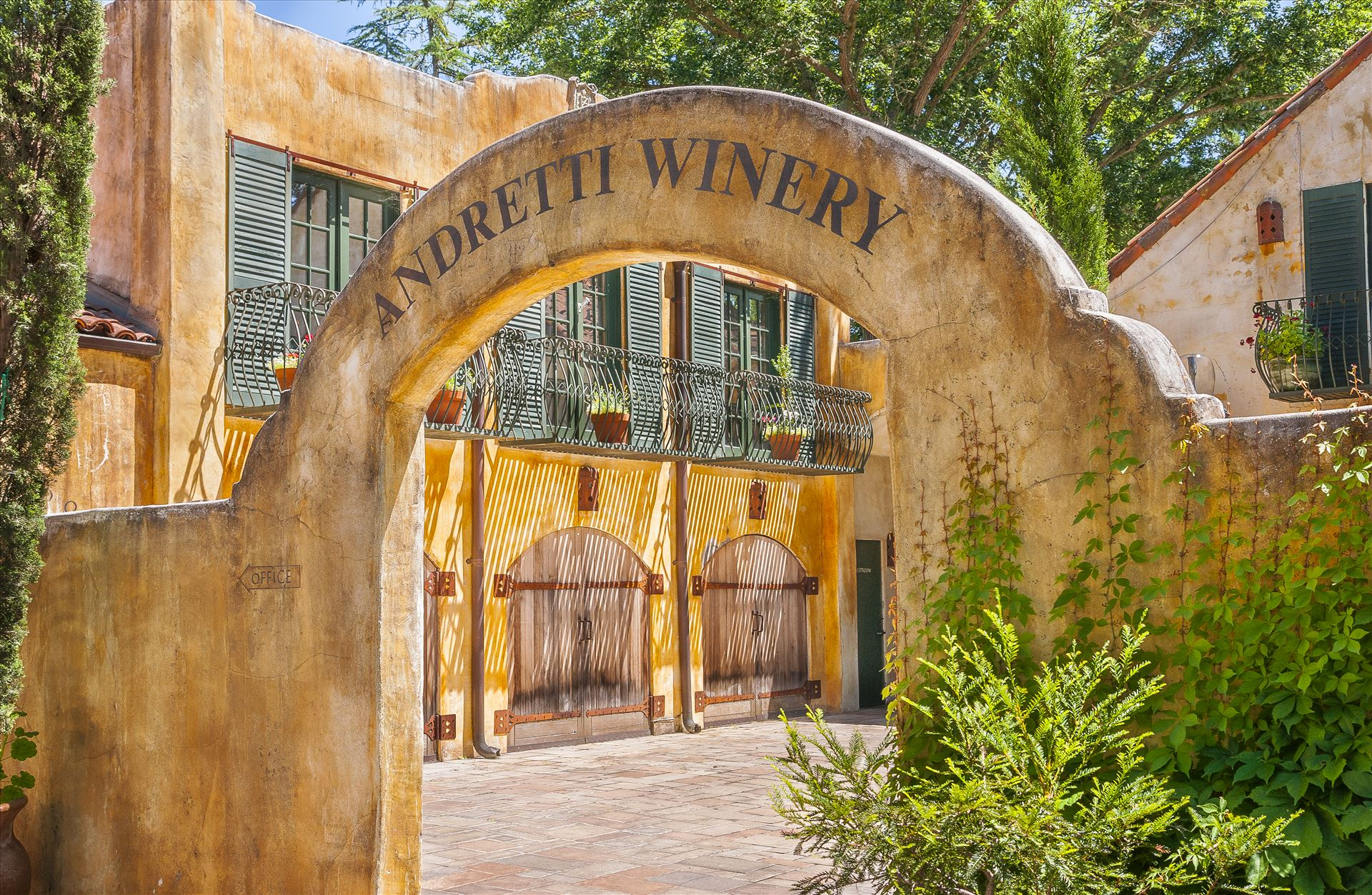 Andretti Winery - Race Team Owner and Driver, Mario Andretti's Napa Valley, California Winery by Buckmaster