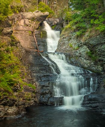 Raymondskill Falls in Dingmans, Pennsylvania
