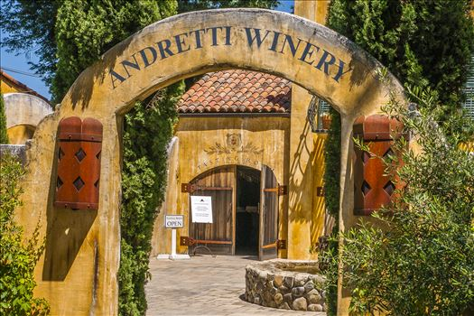 Race, Team, Owner, and, Driver, Mario, Andretti's, Napa Valley, California, Winery,