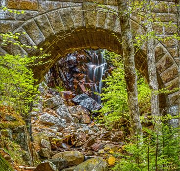 Carriage Road Falls  at Acadia, Maine - Waterfalls under Carriage Road in Acadia, Maine