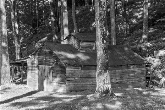 Preview of Old Vermont Sugar House in Black and White